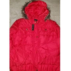 RED BOMBER JACKET 2XL